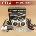 CBX G4F CCFL H4 H7 2.5 polegadas Mini HID Bi xenon Lente Do Projetor, Lâmpada de xenônio, CCFL Anjo Olhos de Halo para Farol Do Carro Retrofit Kit