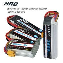 HRB RC Lipo батарея 3S 11,1 V 1500mah 1300mah 2200mah 2600mah 90C 45C 65C 30C 35C Li-poly батарея для FPV RC дронов вертолетов