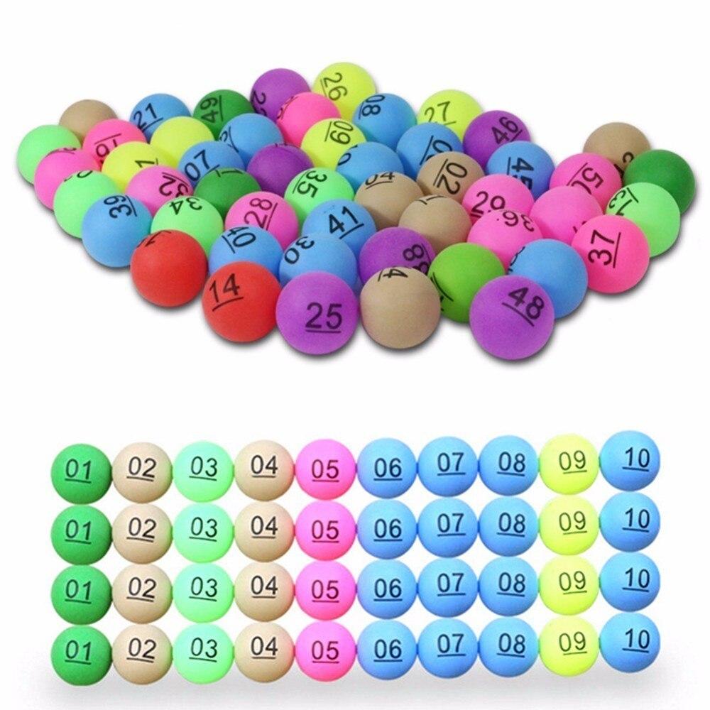 Новый 50 шт./упак. красочные Развлечения для пинг-понга с номером настольный теннис мяч для лотерея рекламы 2,4 г