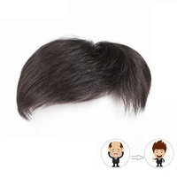 Real hair extension Multiple Styles Toupee high quality hair for Men Top Hair Closures Lace Inner Cap with Fixed Clip