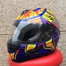 Shoei casco de motocicleta MARUSHIN Mens cara llena del casco de carreras profesionales motocicleta capacete aprobado por el DOT