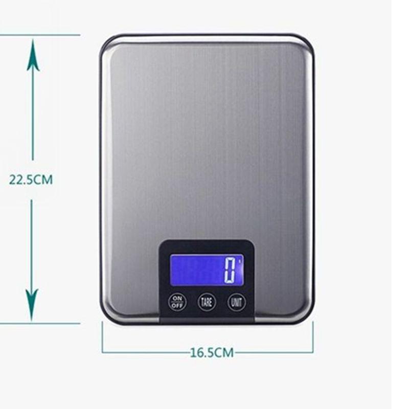 15 kg * 1g skaitmeninė virtuvės jutiklinė skalė 15 kg 1 g plonos - Matavimo prietaisai - Nuotrauka 3