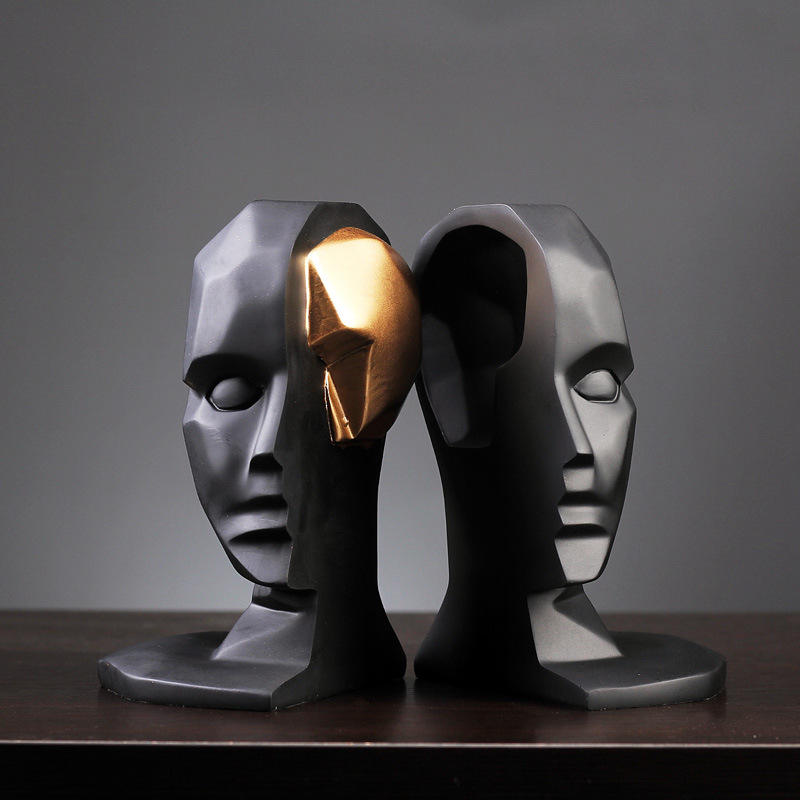 Créatif cerveau trou large ouvert Statues Sculptures résine décor artisanat cadeaux Figurines bureau décoration de la maison accessoires moderne