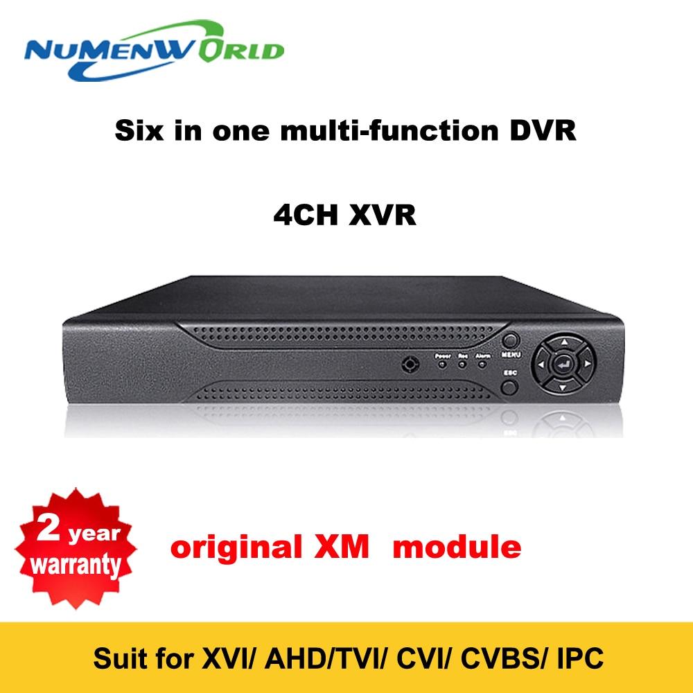 Best 1080P 4 Channel DVR HVR Recorder 6 in 1 surveillance system XVI AHD TVI CVI