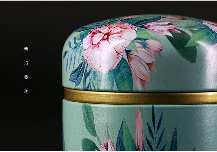 50 мл японский стиль кухонный чай коробка банка держатель для хранения сладкие конфеты банки чайная посуда чайные добавки жестяные контейнеры коробка для хранения