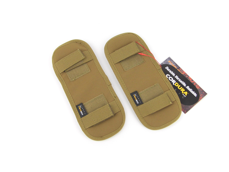 Tactical Plate Carrier Shoulder Strap Pads Coyote Brown+Free shipping(STG051003)