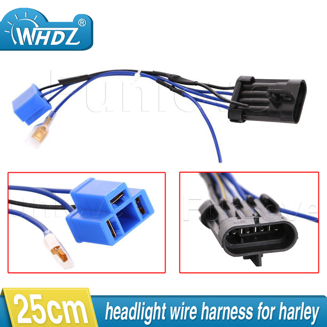 2017 7 Daymaker LED Headlight Wiring Harness Adapter for Harley Touring and Trike 2014 2015 2016_640x640 2017 7\