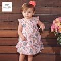 DB3223 дэйв белла лето девочка цветочные симпатичные принцесса платье ребенок цветочные платья дети одежда рождения платье детей костюмы