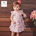 DB3223 dave bella floral princesa linda flor del bebé del vestido del verano del bebé embroma la ropa vestido de los niños trajes