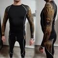 Рашгард для мужчин с длинным рукавом mma  термобелье для мужчин  компрессионное эластичное сухое дышащее нижнее белье