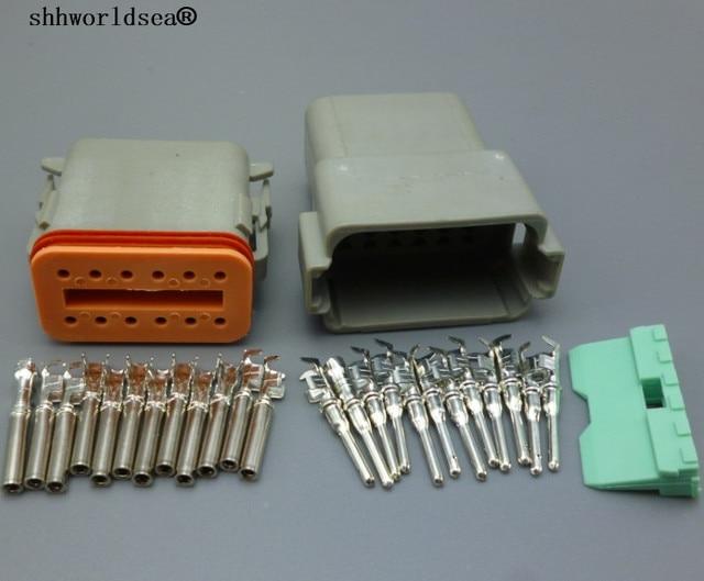 shhworldsea 2 sets 12 Pin Car Auto Waterproof Electrical Wire ...
