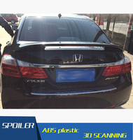 For Honda Accord Spoiler ABS Material Car Rear Wing Primer Color Rear Spoiler For Honda Accord Spoiler with light 2008 2013