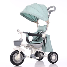 abdo 2019 New Childrens Tricycle Folding Portable 1-3-5 Years Old Ride Bicycle Baby Trolley Rideable