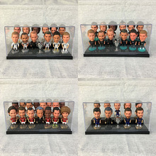 2018 new PVC football player action figures RM FCB MU clubs set toys soccer dolls with display box nice christmas birthday gift