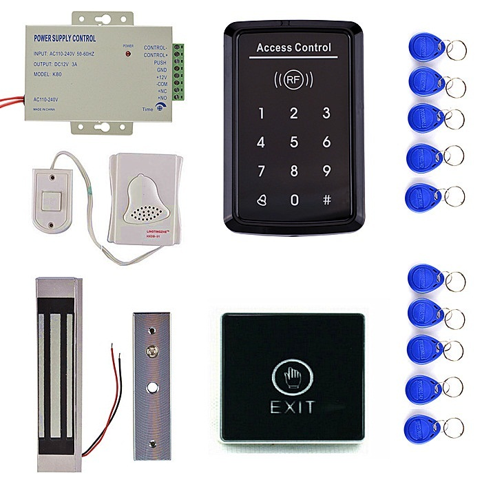 door release button 10 rfid key card 180kg magnetic door lock