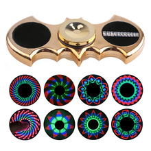 Batman LED Fidget Finger Spinner LED Plastic EDC Hand Spinner For Autism and ADHD Rotation Spiner Anti Stress Kids Toys ZCN30