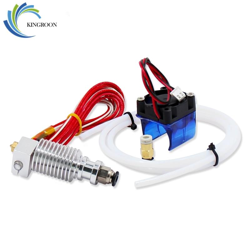 V6 Extruder J-head Hotend With Fan PTFE Tube 0.4mm Remote Parts For 1.75mm 3mm Filament 3D Printer Part Short Thermistors 12V40W недорго, оригинальная цена