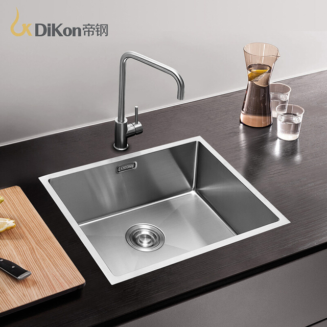 dikon kitchen sink deluxe 304 stainless steel above counter undermount single bowl extra thick panel manual dikon kitchen sink deluxe 304 stainless steel above counter      rh   aliexpress com