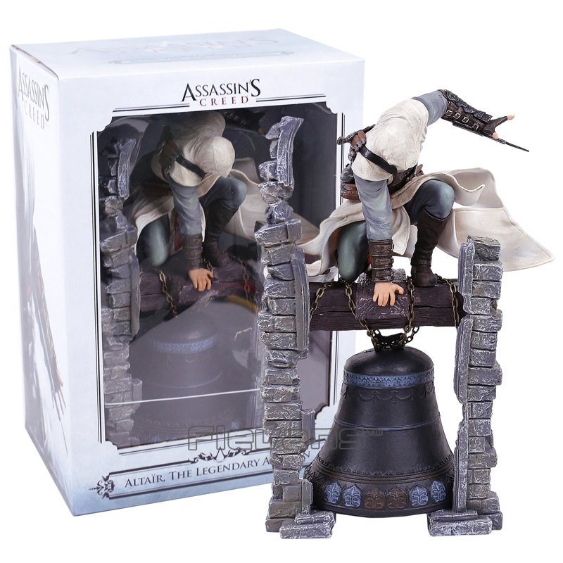 Assassin's Creed Altair Statue PVC Figure Collectible Model Toy neca 7 assassins creed altair ezio action figure pvc doll model collectible toy gift