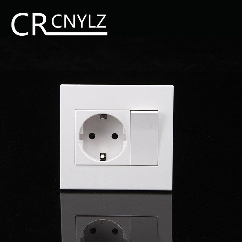 Los hogares de la UE 2-agujero pared con interruptor 1 1Way interruptor socket 250 v 16A