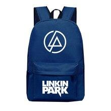 Linkin Park печать студентов школьная сумка мужской женский рюкзак для путешествий ноутбука рюкзаки мужские школьные сумки
