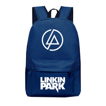 e5004281345d Linkin Park Print Students School Bag Men Travel Backpack Women Laptop  Backpacks Male Schoolbags(China