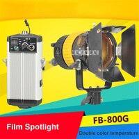 FB 800G фильм Spotlight Портативный высокого качества 5600 К/3200 К 80 Вт светодиодный Spotlight фотографической лампы для Камера видео непрерывной свет