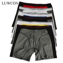 LUWCON Brand 4pcs/Lot Men's Cotton Underwear Boxer Shorts Mens Comfortable Underpants Panties Men Boxers Drop shipping