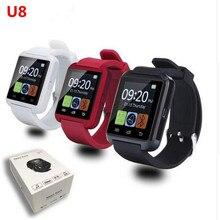 Smartwatch Bluetooth font b Smart b font Watch U8 WristWatch Sport Watch with Pedometer Message SMS