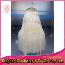 Free Shipping Glueless Full Lace Human Hair Wigs Brazilian Blonde color Lace Front Wigs with natural hair line