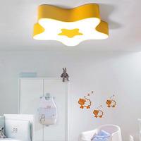 T Lovely Cute Star Acrylic Ceiling Light Children S Room Lamp Creative Colorful Sweety Home Lighting