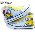 2016 New Cartoon Despicable Me 2 Minion Shoes Couples Men Sport Casual Shoes Man Breathable Flat Shoes Rubber Sole