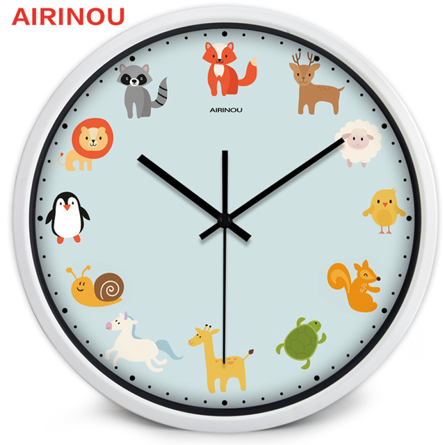 airinou 3size quartz cartoon children wall clock kids room cute rh aliexpress com Clocks for Boys Room Media Room Clocks