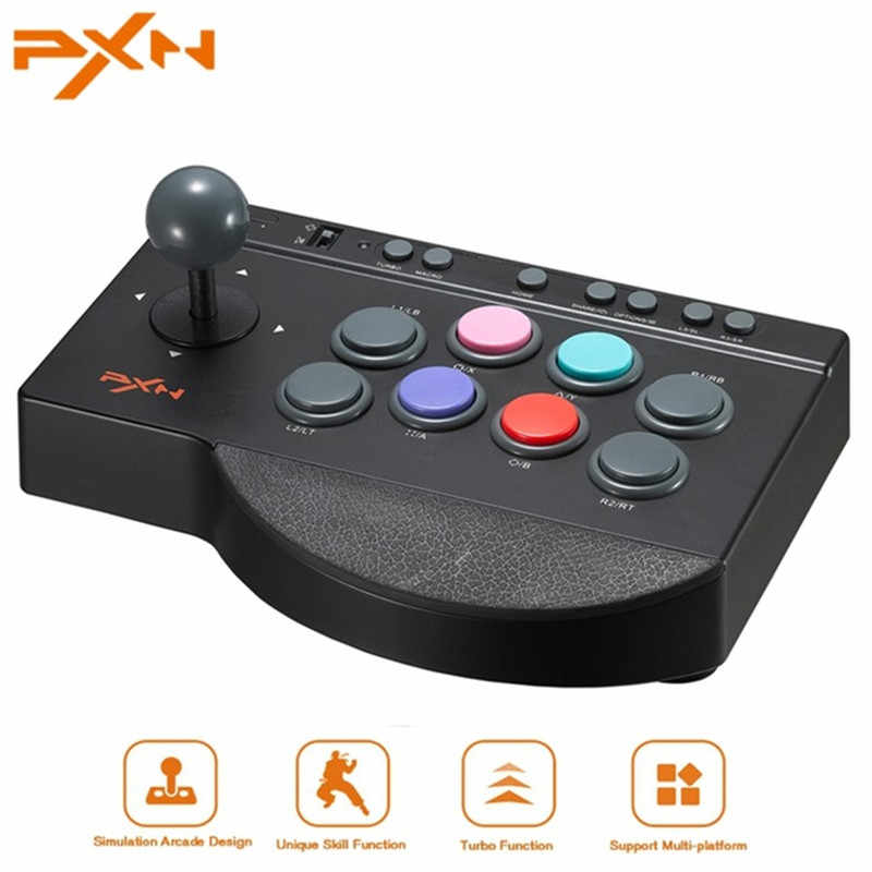 Pxn 0082 USB Wired Game Controller Pertempuran Arcade untuk PS3/PS4/XBOX 360/Xbox Satu/PC Joystick Stick Joystick game Controller PXN-0082