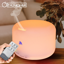 500ml Air Humidifier Remote Control Aroma Oil Diffuser 7 LED Color Night Light Timing Humidification for Home Office 168