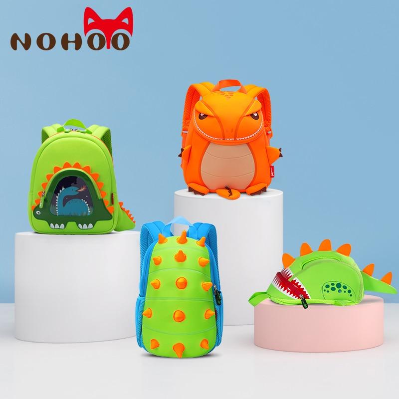 NOHOO Toddler Kids Dinosaur Backpack For Boys Children Dinosaur Bookbag Toys Bag Waterproof 3D Cartoon Girls Preschool Backpack