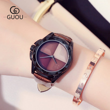 GUOU Luxury Brand Watch Fashion Women Watches Casual Quartz Watch Ladies Girl Famous WristWatch Female Clock Relogio Feminino 2017 new watch women top brand luxury famous fashion casual wristwatch quartz watch clock ladies dress watch relogio feminino