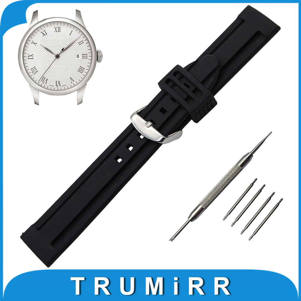 21mm 22mm 23mm 24mm Silicone Rubber Watch Band + Tool for Tissot 1853 T035 Stainless Steel Buckle Strap Wrist Belt Bracelt t rrce expert black silicone rubber strap t048 watch band for t048417a 21mm