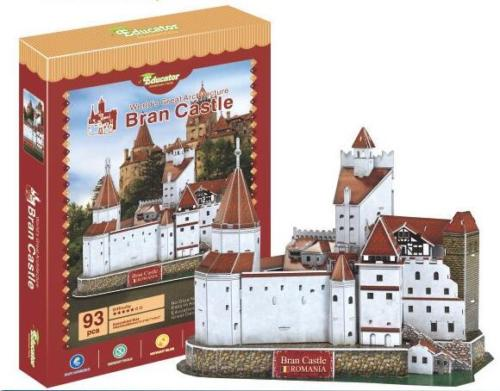 Candice guo 3D puzzle DIY toy paper model Romania buliding Bran Castle toy world's architecture birthday Christmas gift 1pc