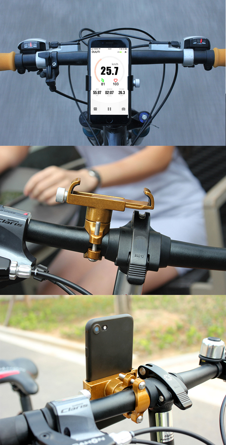 PCycling Adjustable Mobile Phone Holder With Non-Slip Mat For Smartphone 9