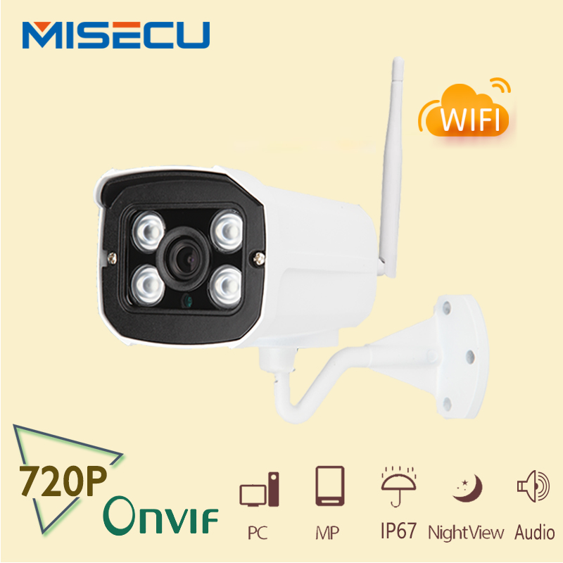 New onvif wifi ip font b camera b font 720p 1280 720P 1 0mp audio IP