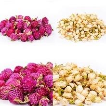 Flores secas naturales de jazmín, bolsita de fruta roja, relleno de flores secas, bolsita refrescante de aire desecante para armario de aromaterapia, 20g