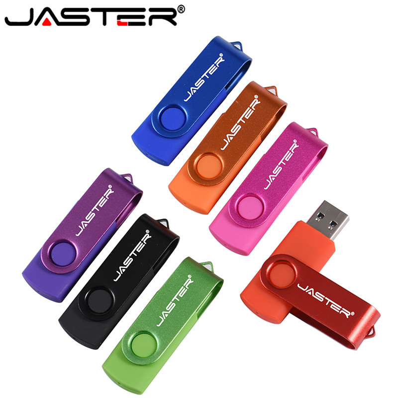 JASTER Commercial Plastic USB Flash Drive Delicacy Portable Pendrive 4GB 8GB 16GB 32GB Rotatable Memory Stick U Disk Wholesale