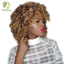 MISS WIG 16Inchs Long Kinky Curly Wigs for Black Women 250g  Synthetic