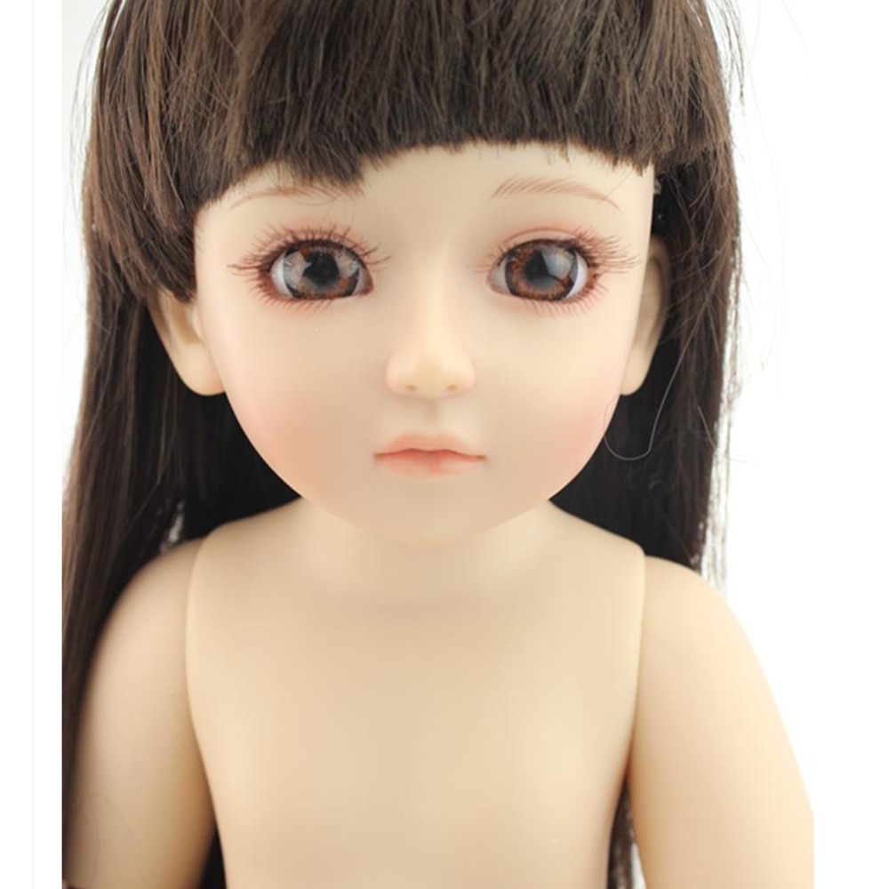 Vivid SD/ BJD Doll Naked Doll for childs' gift, Fashion18 Inch Princess Doll Girls Doll Toys for Children