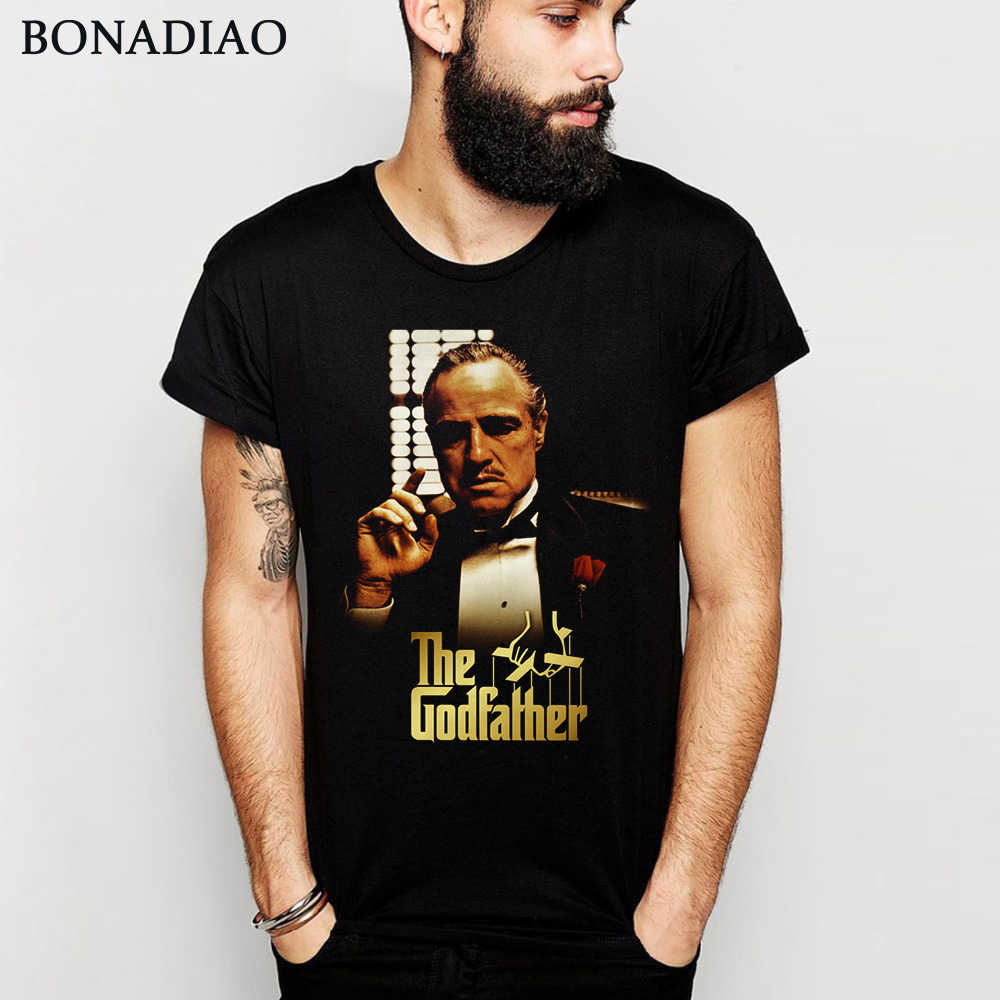 Awesome The Godfather Vito Corleone Graphic Cotton T Shirt Crewneck S-6XL Plus Size Retro Movie Tee shirt