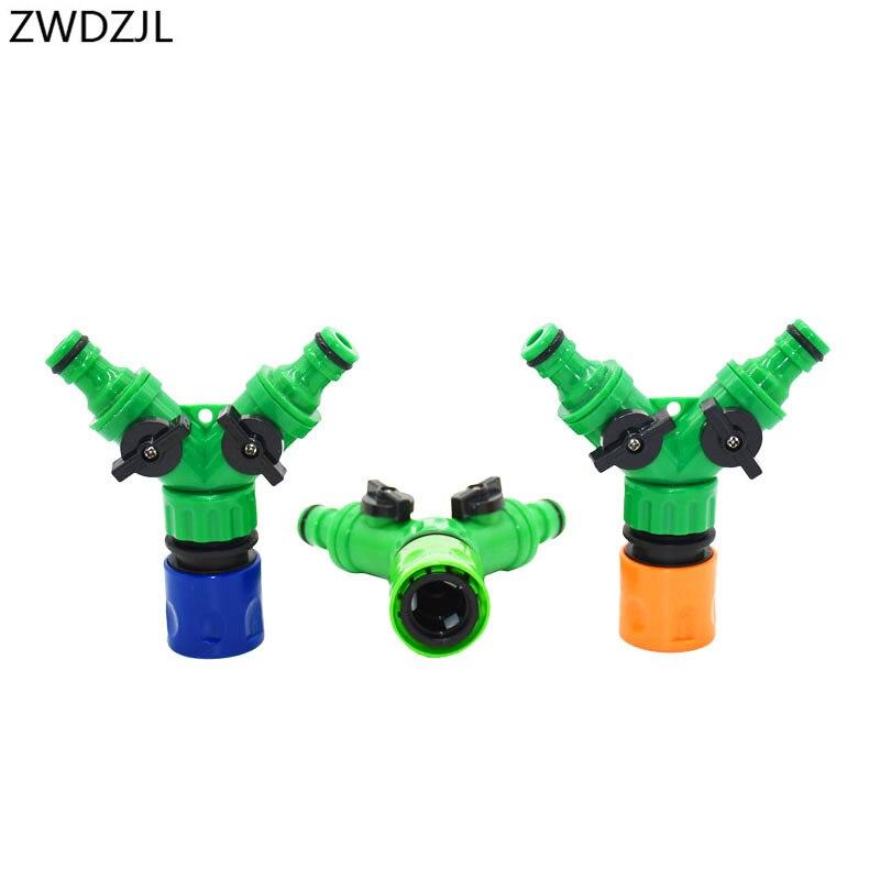 HTB1kcrwf9tYBeNjSspaq6yOOFXat Irrigation 2 way tap garden tap Irrigation valve Hose Pipe Splitter 2 Way Quick connector adapter 1pcs