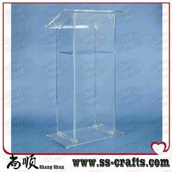 Luxury Acrylic Lectern,Perspex Podium,Plexiglass Church Pulpit Plexiglass
