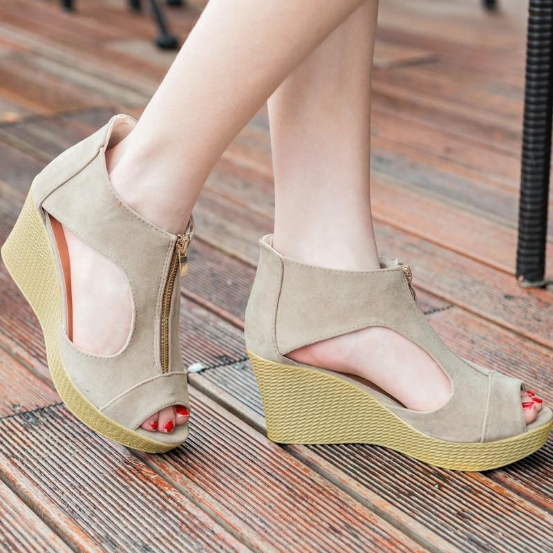 E TOY WORD Summer Shoes Woman Platform Sandals Women High Heel Sandals Peep Toe Gladiator Wedges Women Sandals zapatos mujer 6