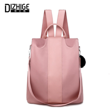 DIZHIGE Brand Luxury Waterproof Oxford Women Anti-theft Backpack Multifunctional School Bag For Large Capacity Fur New